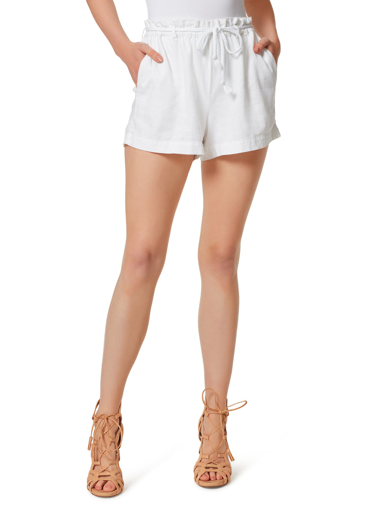 Paperbag Short in White