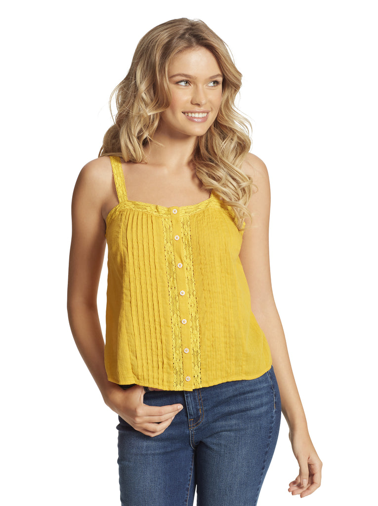 Albi Lace Cami in Golden Rod