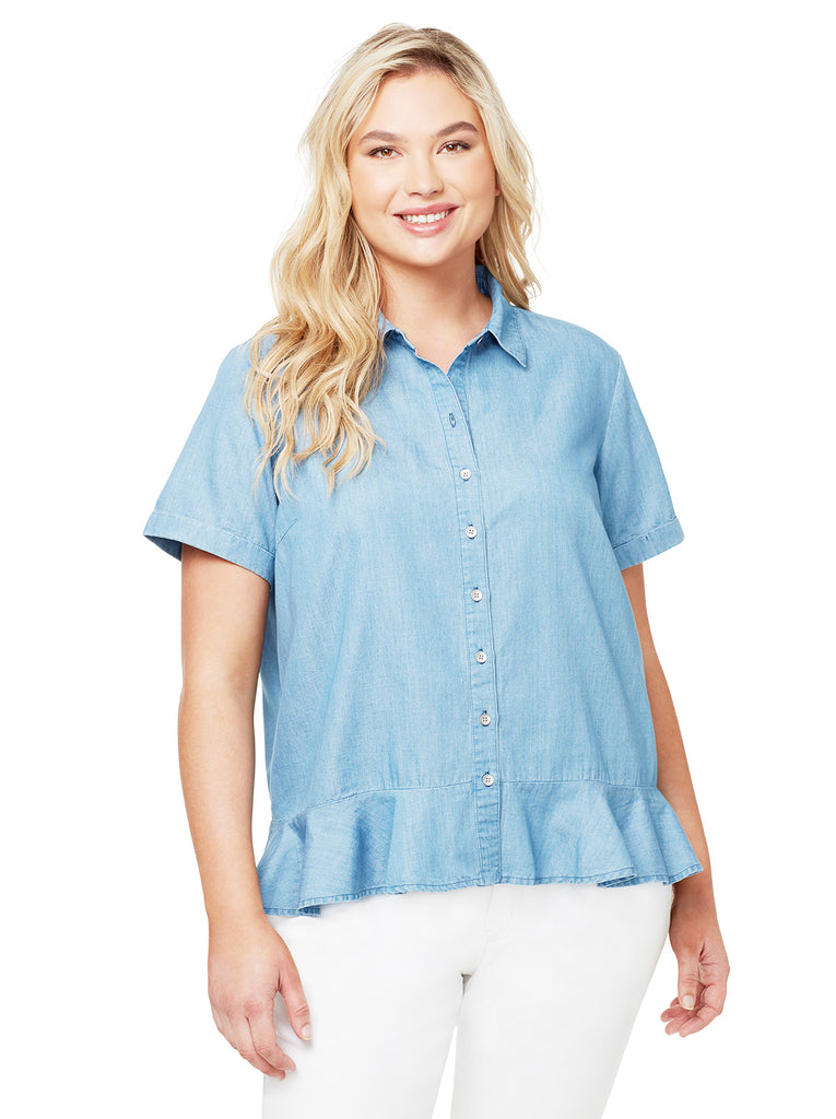 Nellie Top in Chambray