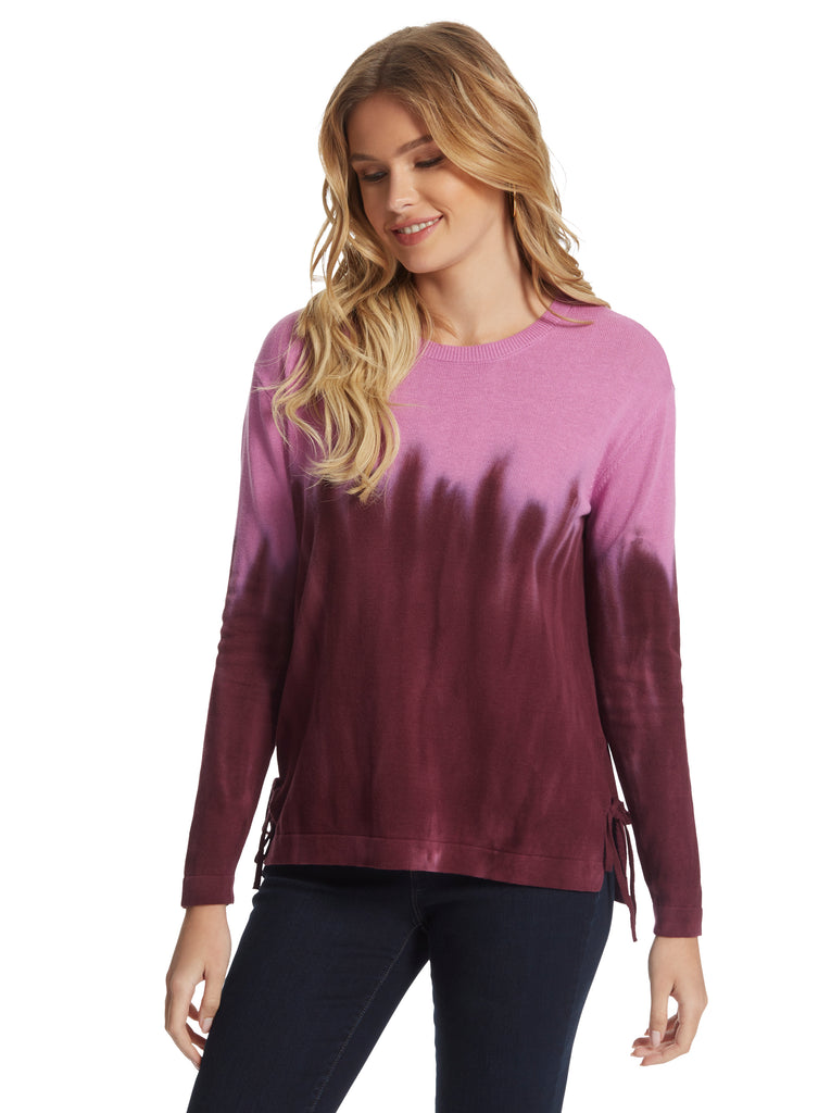 Amara Dip Dye Top in Winetasting Sorbet