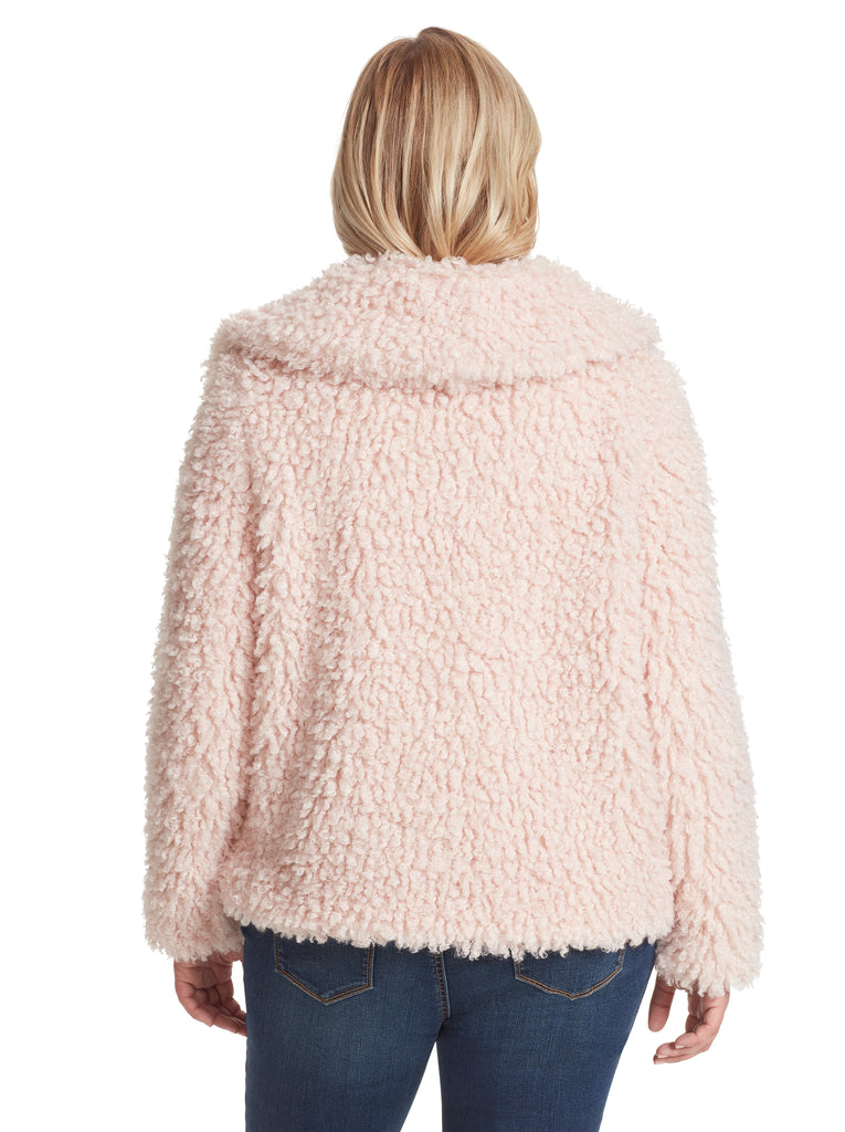 Sasha Fur Jacket in Sepia Rose