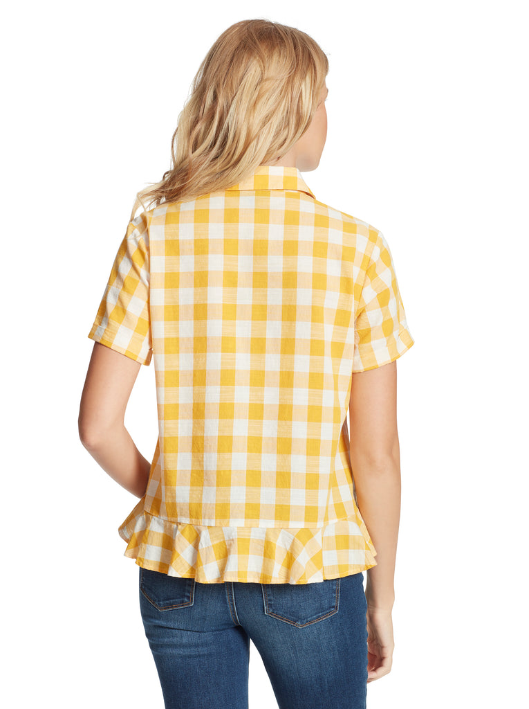 Nellie Top in Golden Rod Gingham