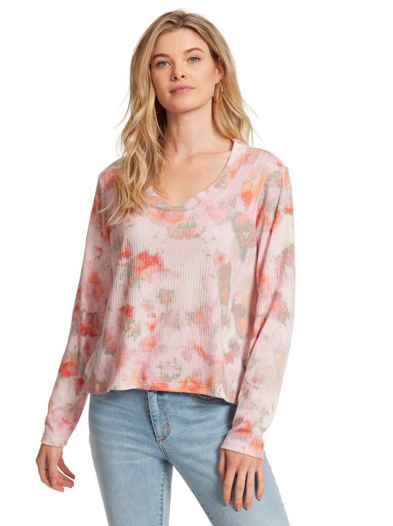 Melinda Top in Crabapple Tie Dye
