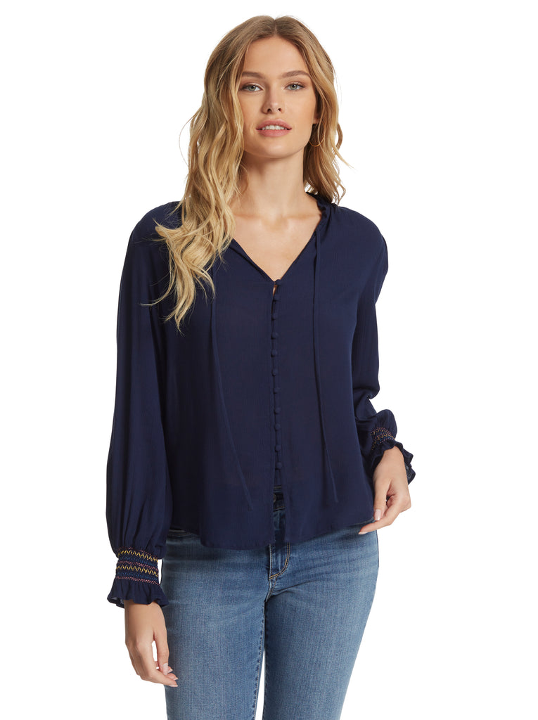 Presto Blouse in Maritime Blue