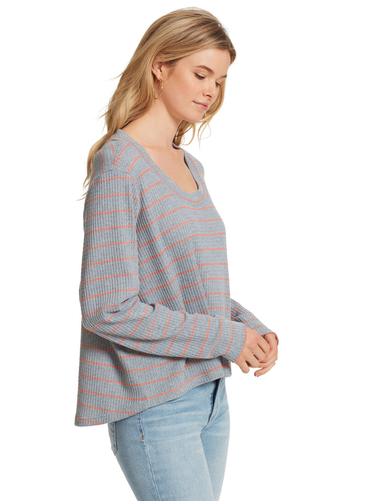 Melinda Top in Light Heather Grey