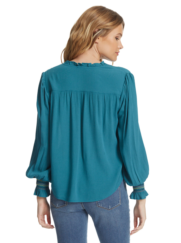 Presto Blouse in Colonial Blue
