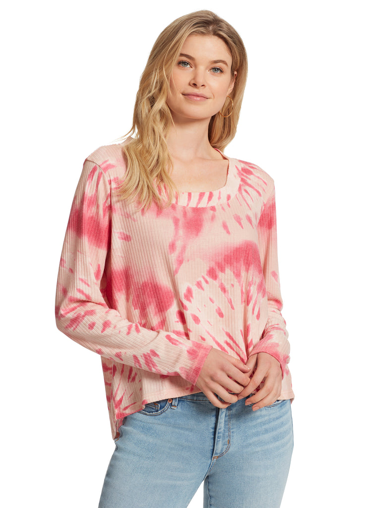 Melinda Top in Dusty Pink Tie Dye
