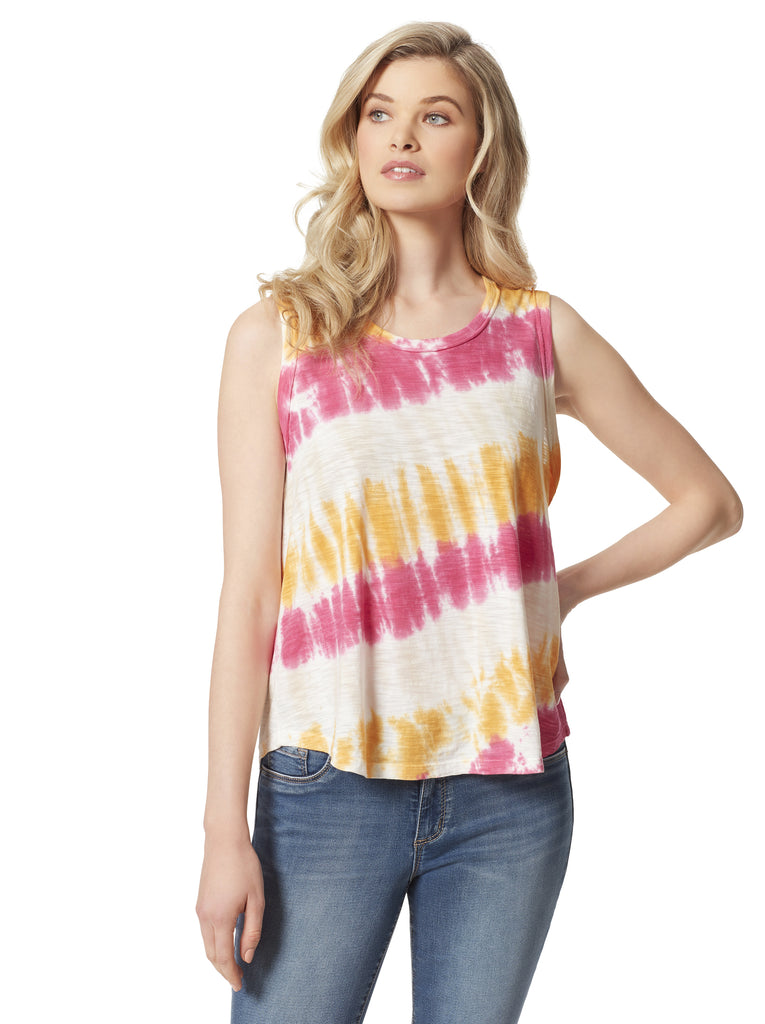 Knox Tank in Golden Rod Tie Dye