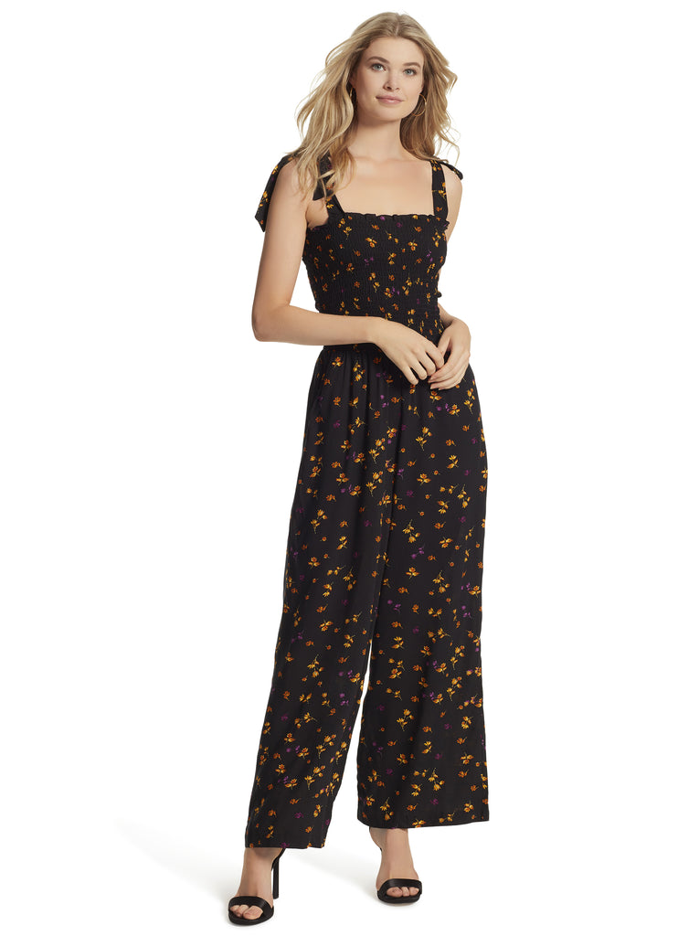 Romie Jumpsuit in Black Stranded Petals
