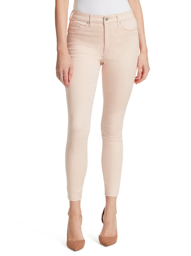 Kiss Me Ankle Skinny High Rise Jeans in Peach Blush