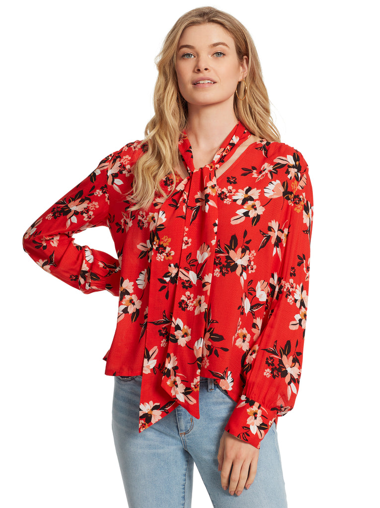 Dazed Blouse in Sporadic Blooms