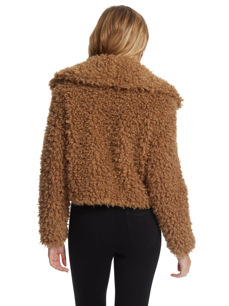 Sasha Fur Jacket in Burro
