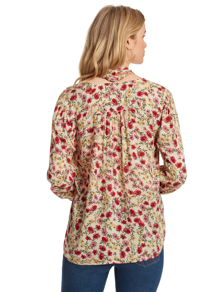 Dazed Blouse in Canvas Posies