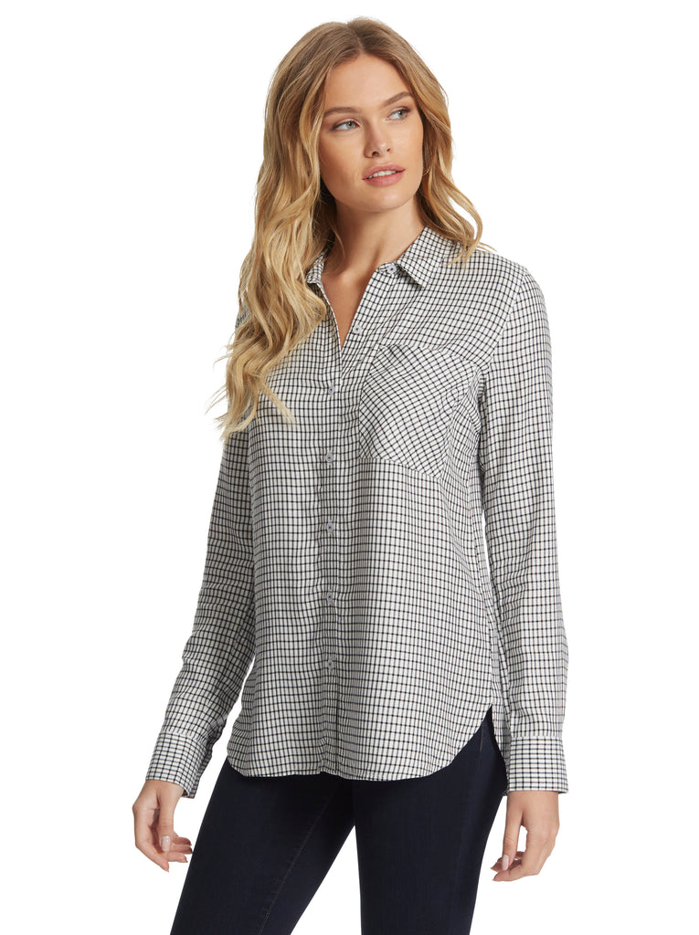 Petunia Shirt in Off the Grid Plaid