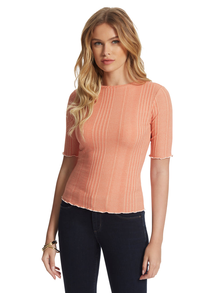 Declyn Top in Tawny Orange