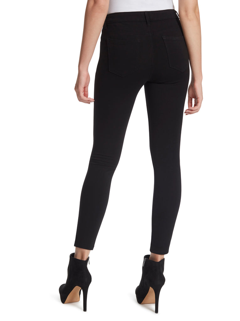 Kiss Me Super Skinny Jeans in Black Ponte