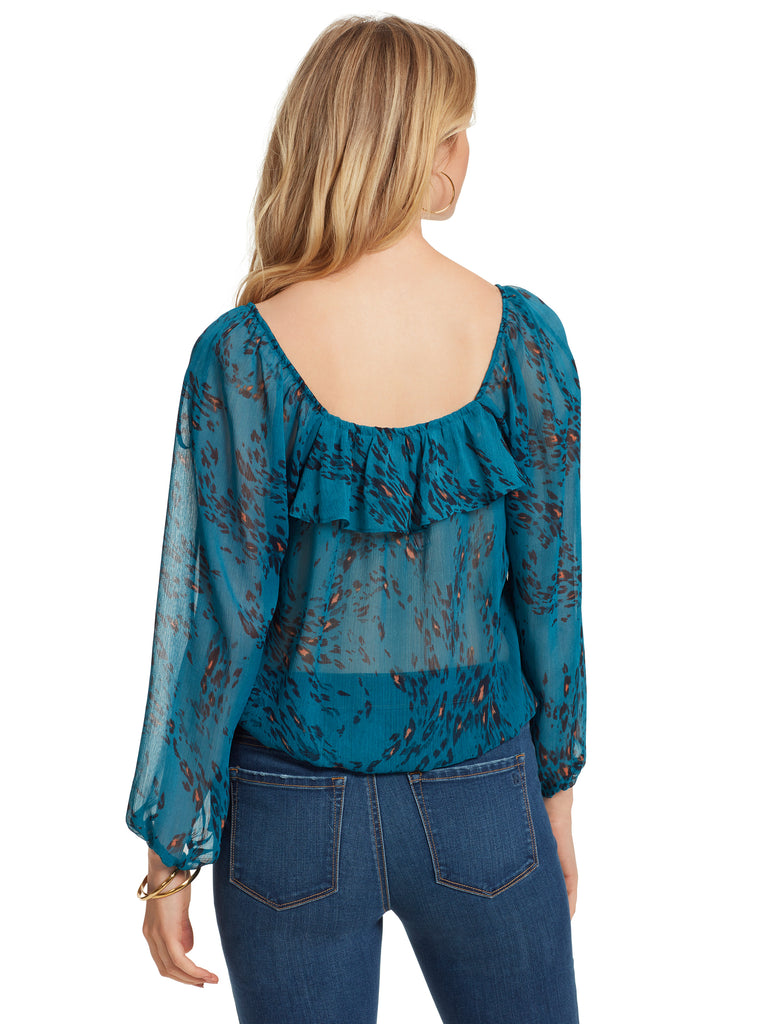 Bailey Blouse in Whirling Cheetah