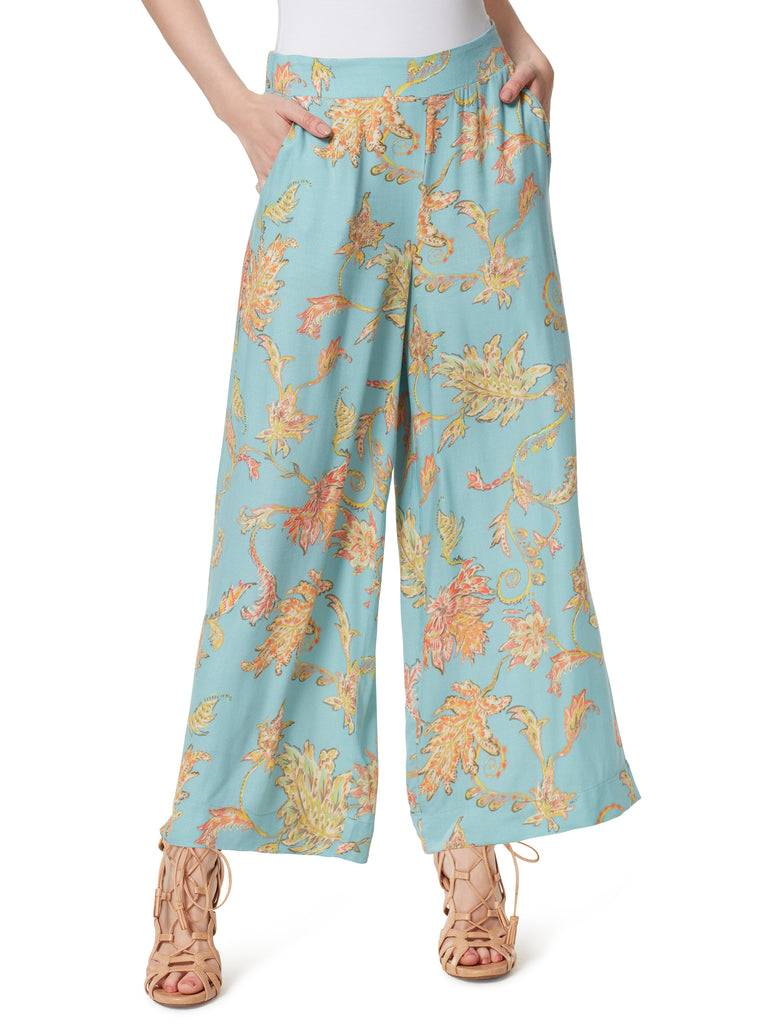 Julie Wide Leg Pants in Paisley Grove
