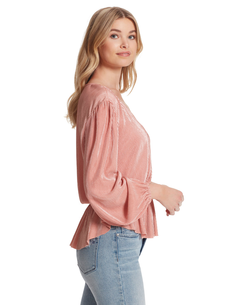 Bettina Top in Peach Beige
