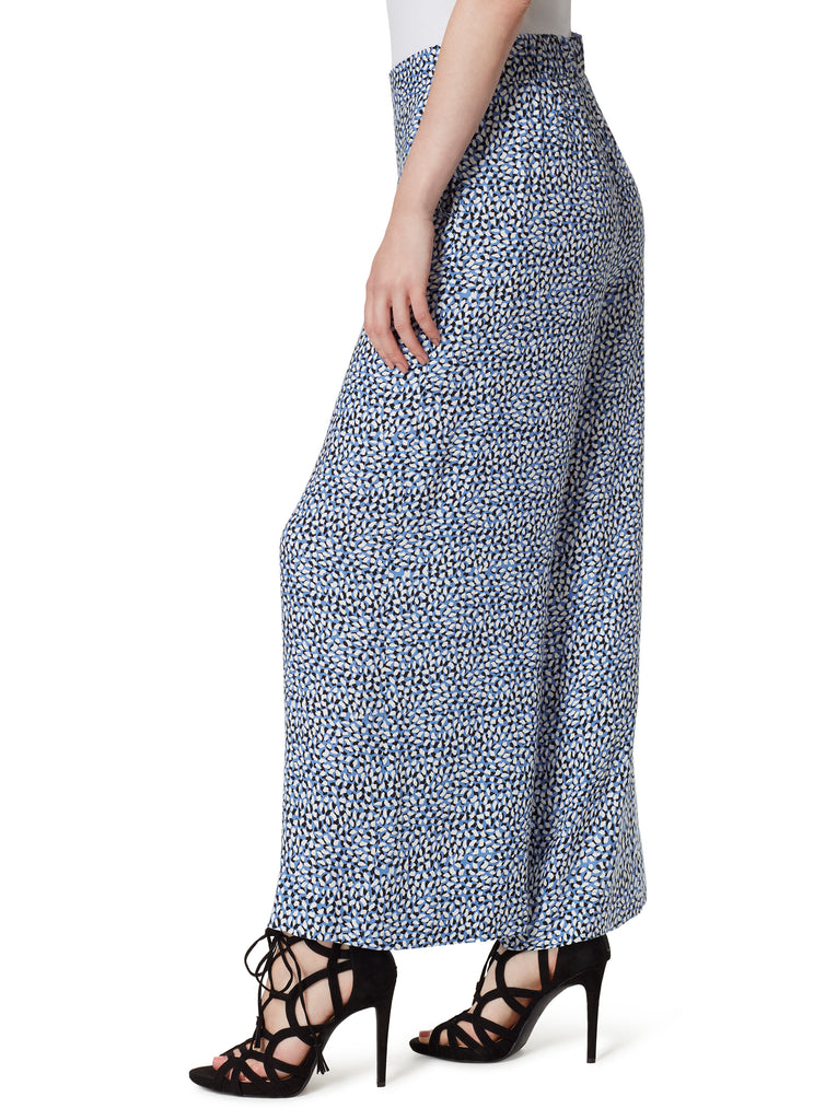 Julie Wide Leg Pants in Paint Daubs