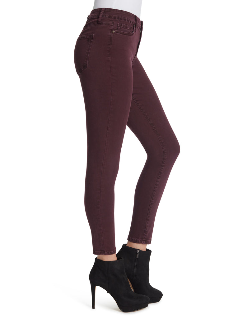 Adored High Rise Ankle Skinny Jeans in Winetasting