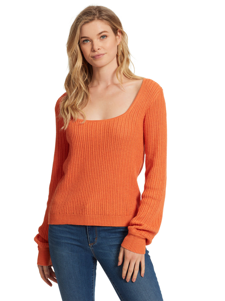 Nicole Sweater in Russet Orange