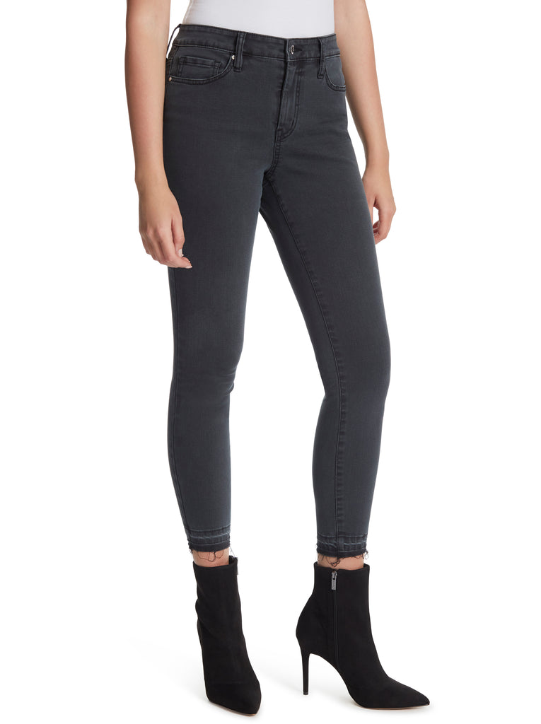 Adored High Rise Ankle Skinny Jeans in Evie