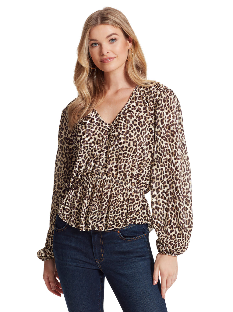 Bettina Top in Leopard