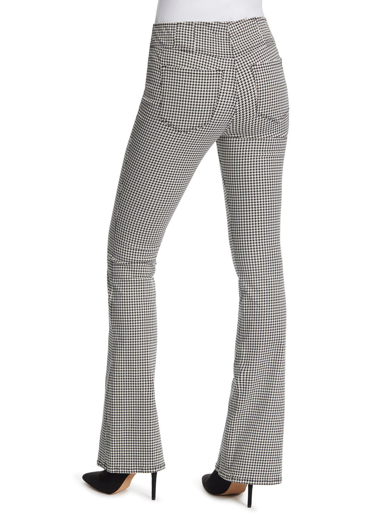 Pull on Flare in Houndstooth