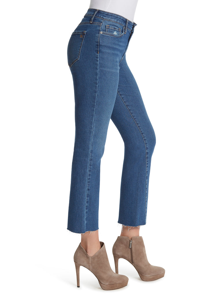 Adored High Rise Kick Flare Jeans in Bree