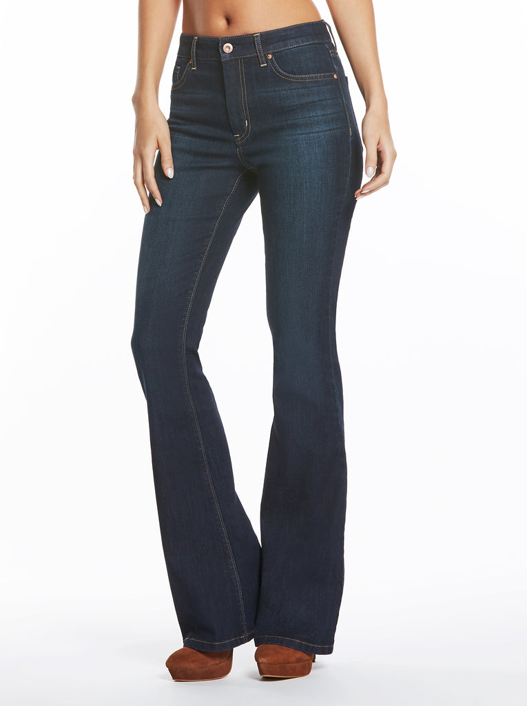 Adored High Rise Flare Jean in Flawless