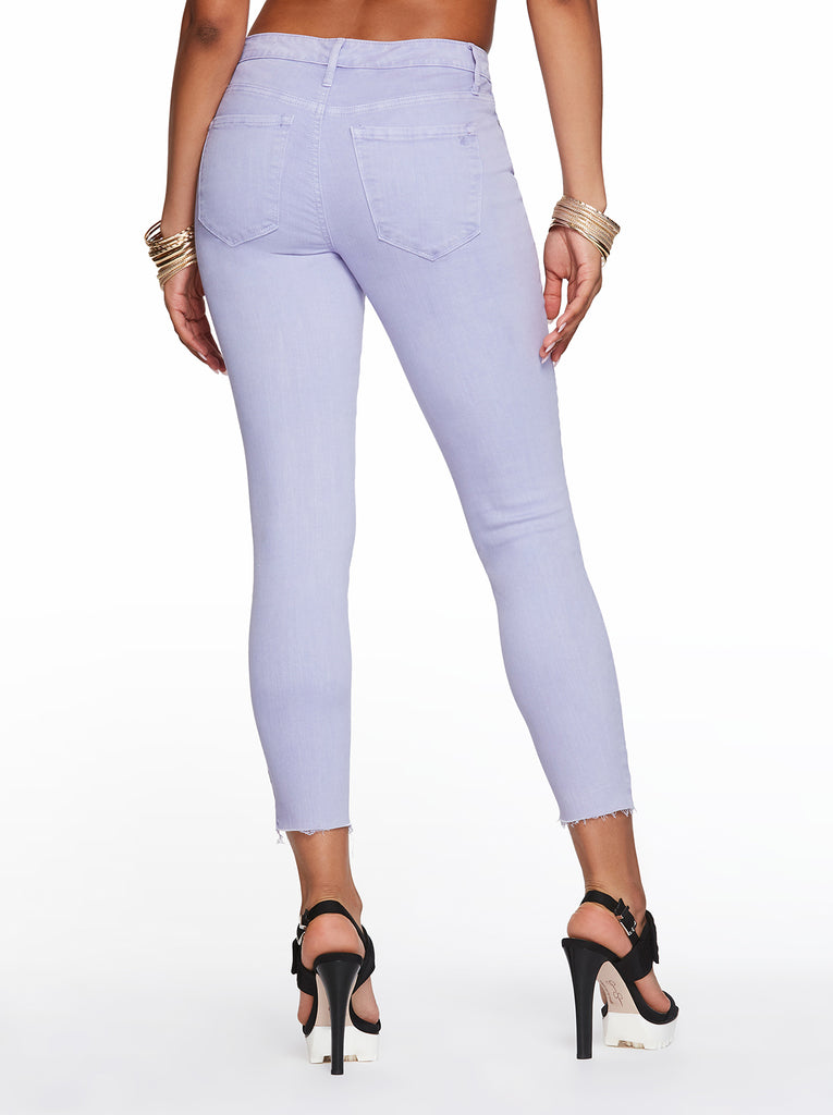 Adored High Rise Ankle Skinny Jeans in Thistle Down