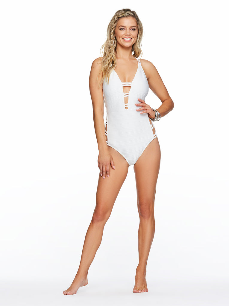 Plunge One Piece in Off White