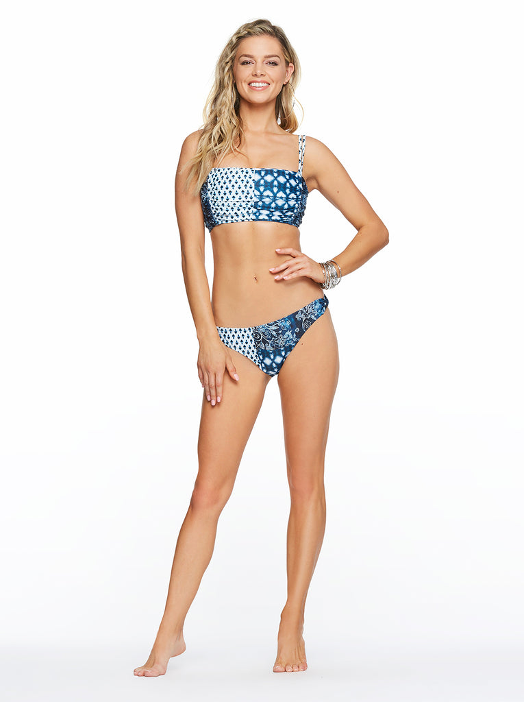Batik Babe Bandeau Top  in Dark Navy
