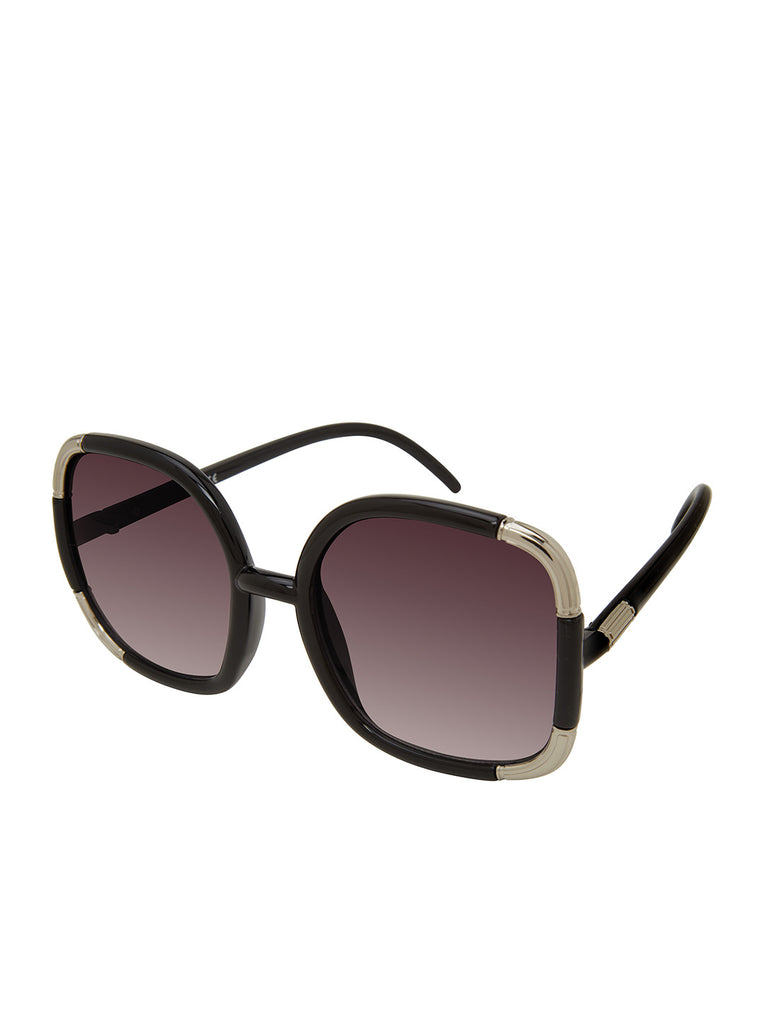 Over-Sized Oval Sunglasses in Black