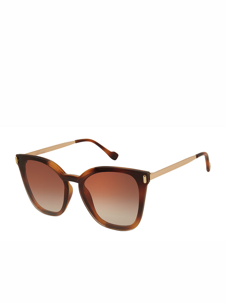 Retro Cat-Eye Sunglasses in Tortoise & Gold