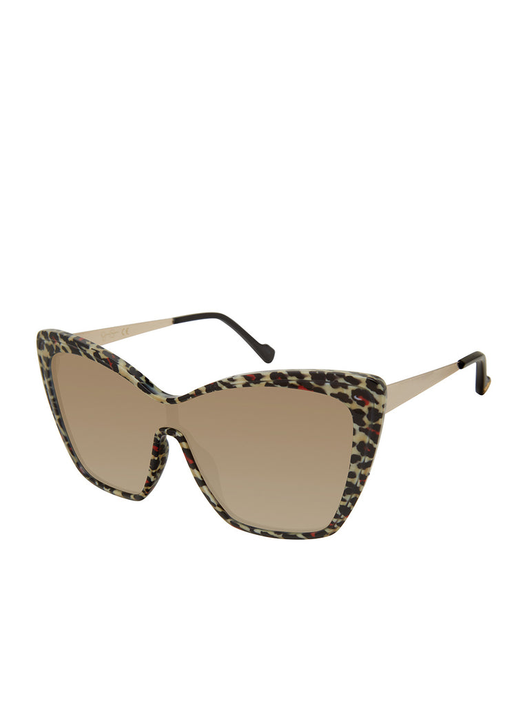 Bold Cat-Eye Sunglasses in Leopard