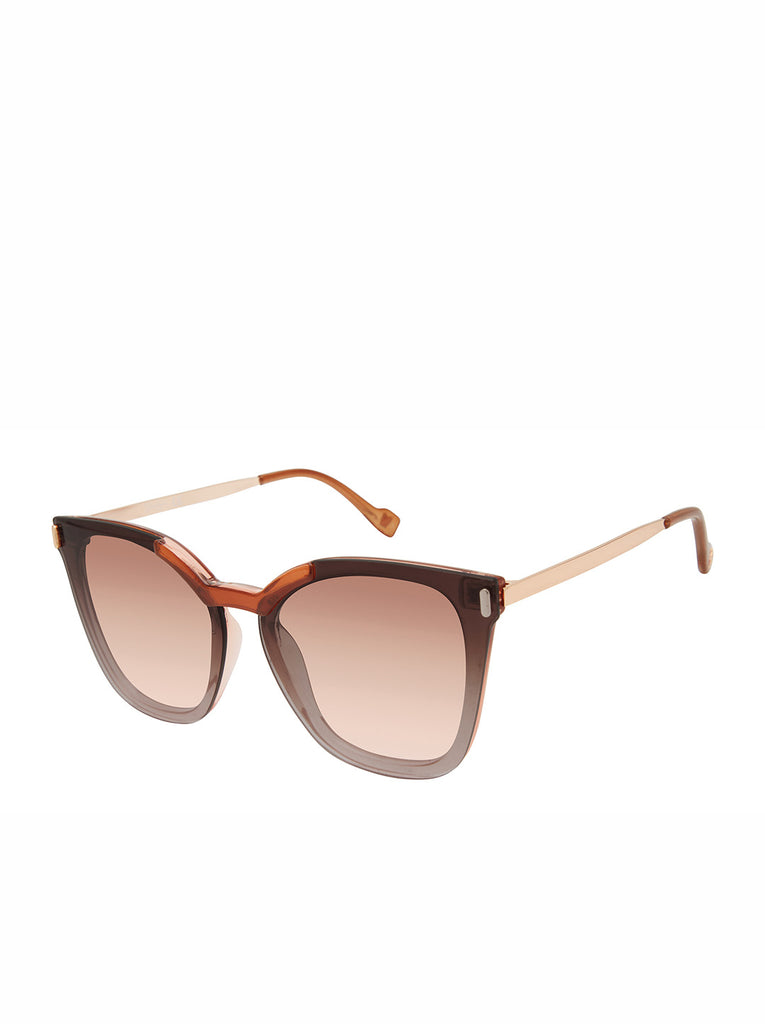 Retro Cat-Eye Sunglasses in Nude & Rose