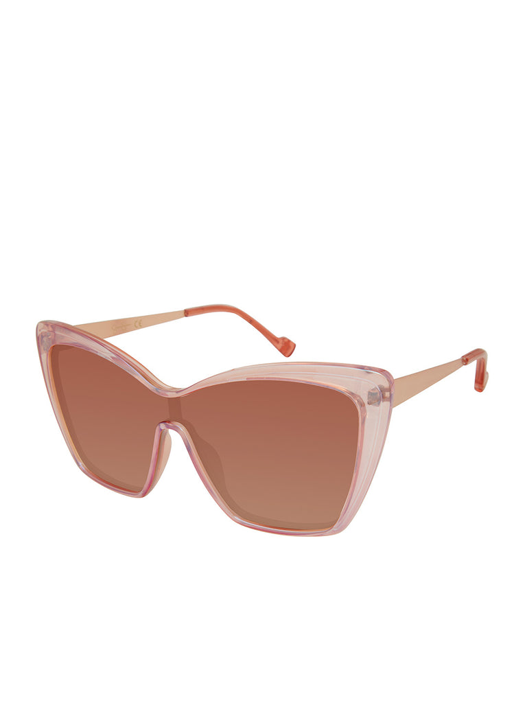 Bold Cat-Eye Sunglasses in Rose