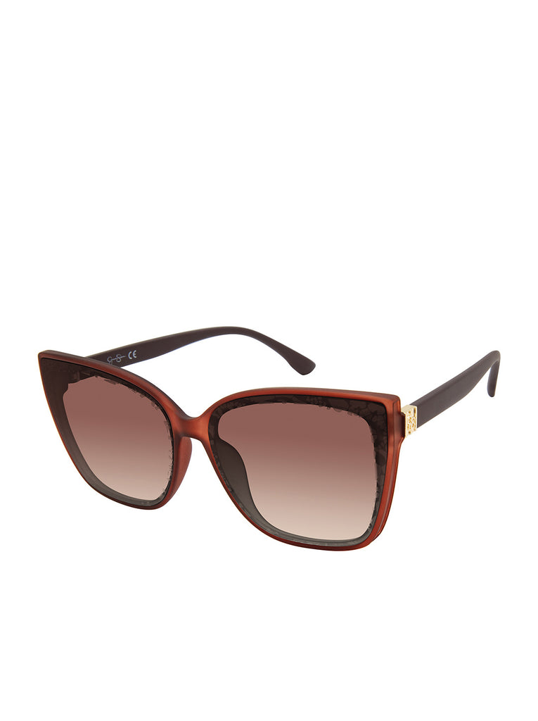 Modern Cat-Eye Sunglasses in Brown
