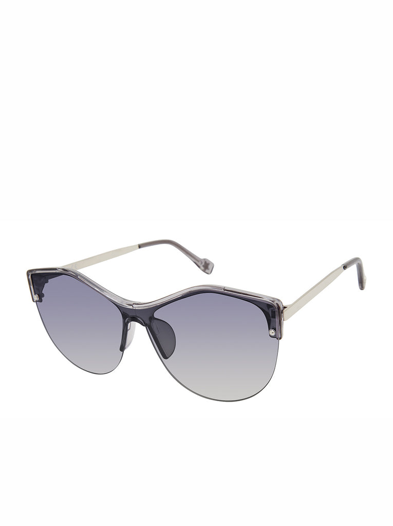 Stylish Cat-Eye Sunglasses in  Crystal Smoke