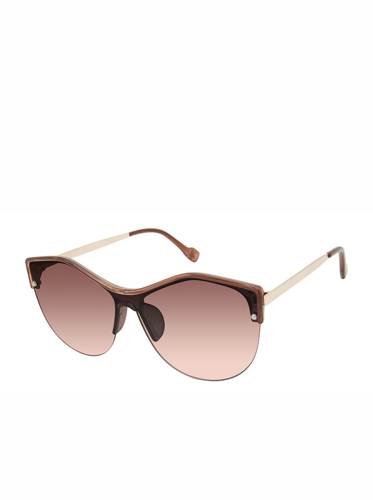 Stylish Cat-Eye Sunglasses in Crystal Brown