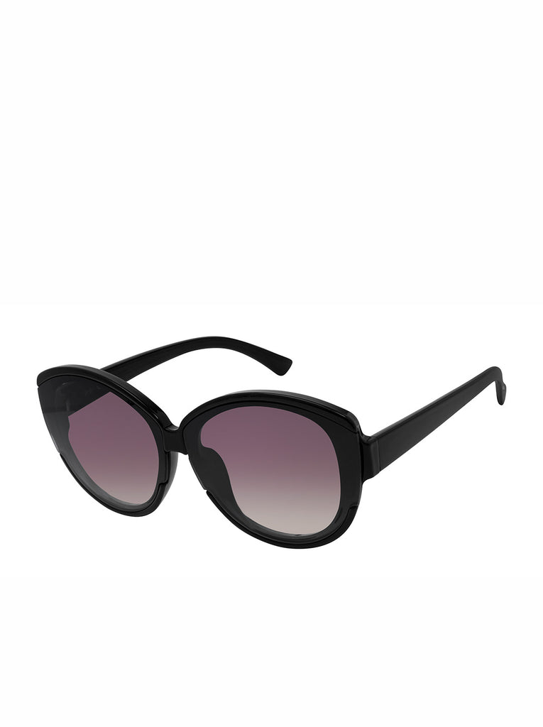 Trendy Round Sunglasses in Black