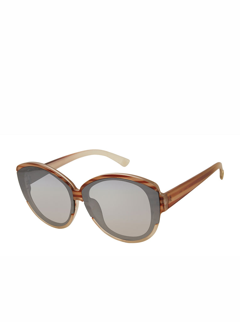 Trendy Round Sunglasses in Horn