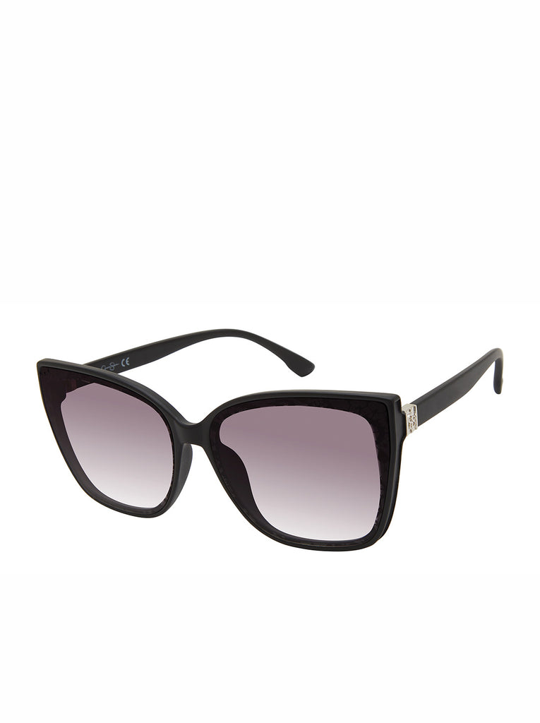 Modern Cat-Eye Sunglasses in Black