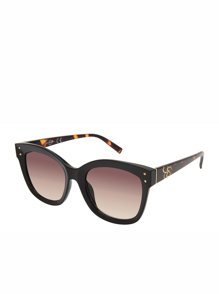 Contemporary Rectangle Sunglasses in Black