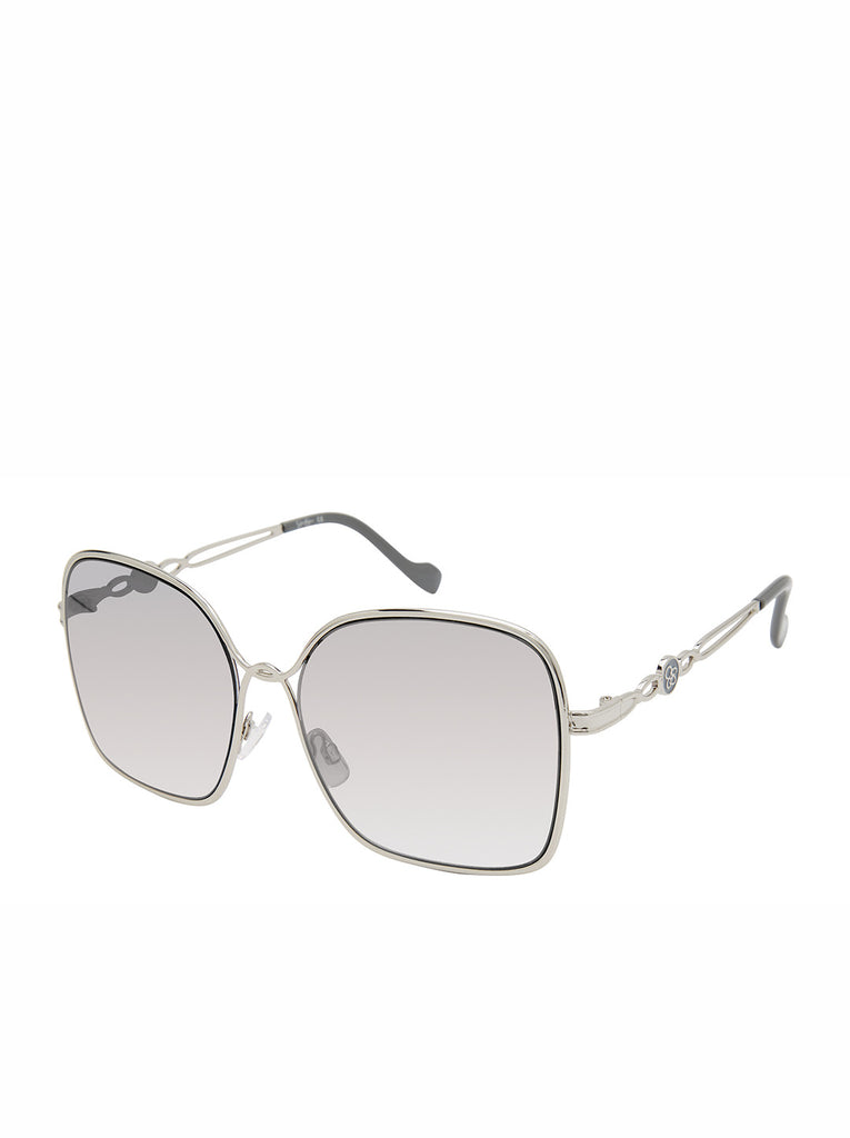 Fashionable Metal Square Sunglasses in Silver & Grey