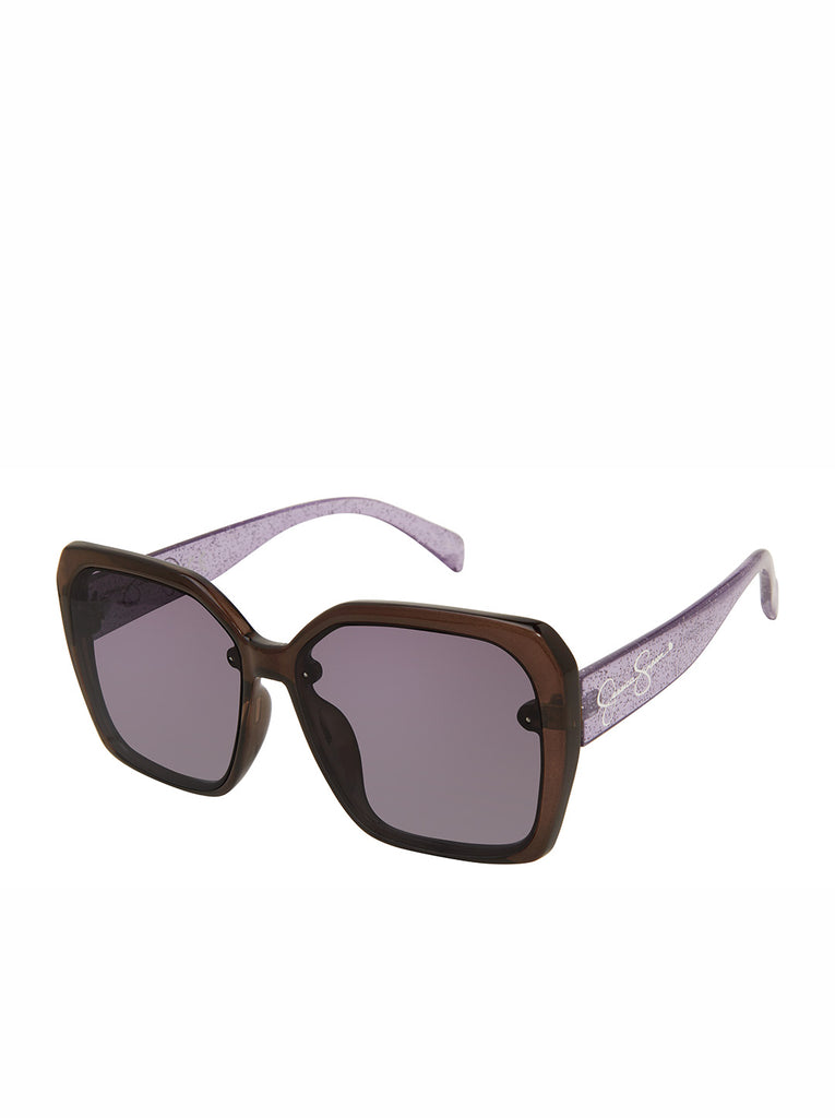 Sparkle Square Sunglasses in Black Glitter