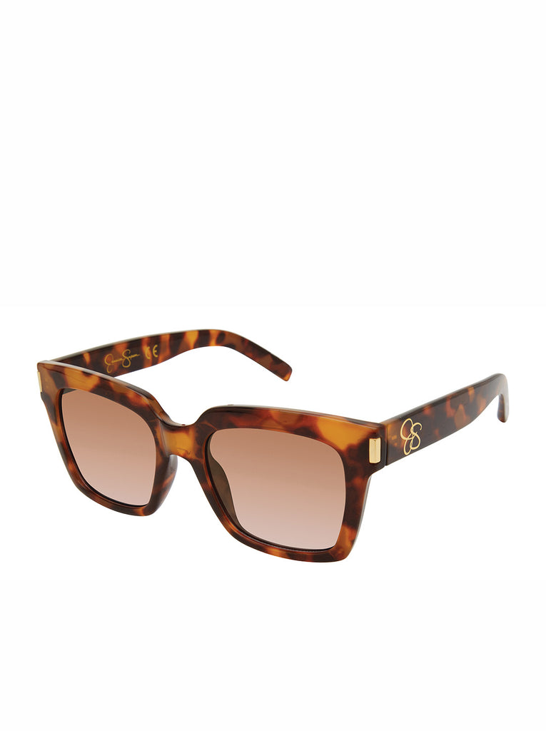 Modern Square Sunglasses in Tortoise