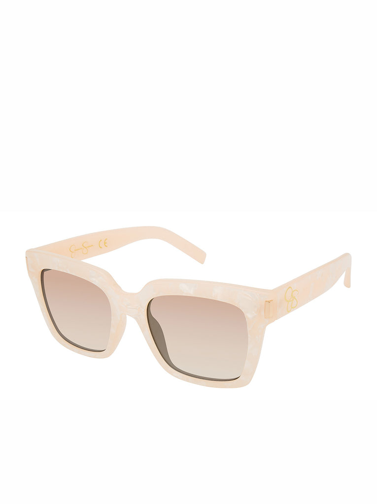 Modern Square Sunglasses in Rose Marble